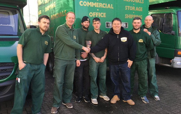 the team and a client at sawyerr peters removals
