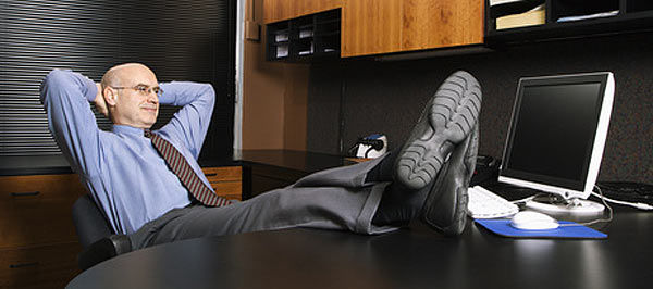 businessman relaxed in his office