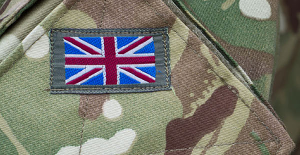 camouflage uniform with GB badge