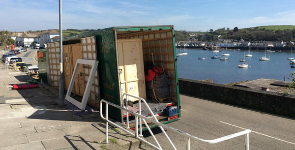 Unloading in Falmouth