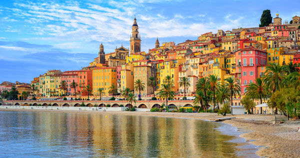 menton france by the sea