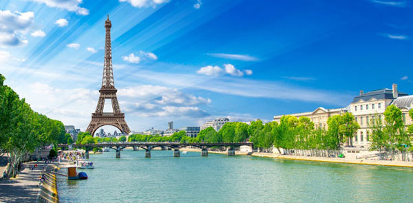 Eiffel Tower, Paris and the Seine River