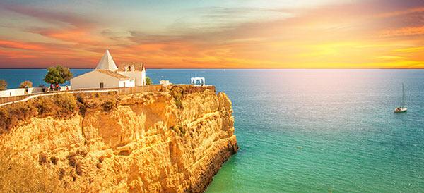 Capela de Nossa Senhora da Rocha, Sunset, Algarve
